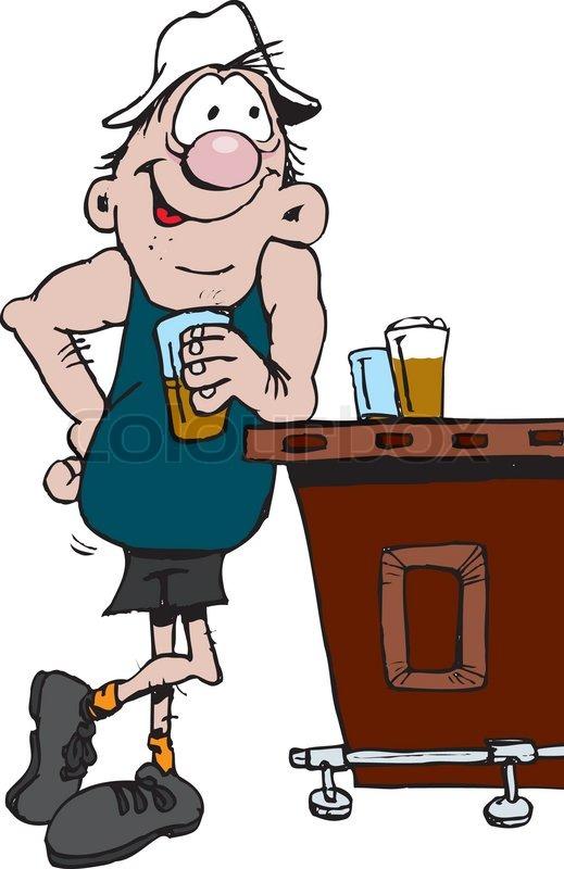Of person drinking a. Bar clipart pub bar