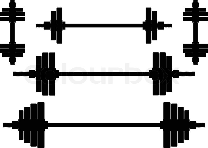 Weight lifting clip art. Barbell clipart silhouette