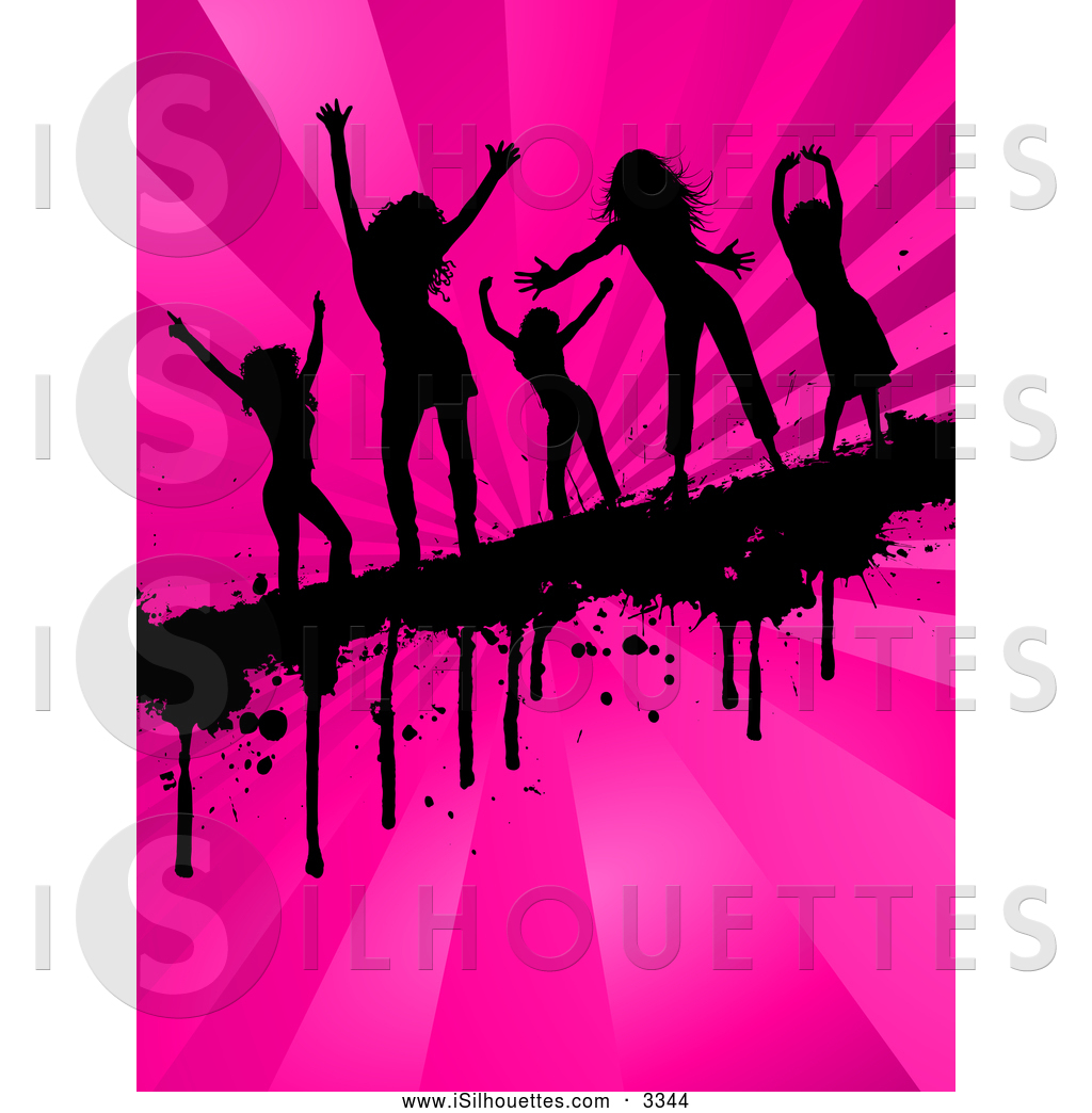 Of a group five. Bar clipart silhouette