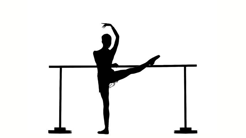 Bar clipart silhouette. Little girl ballerina at