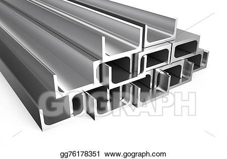 Stock illustration rolled metal. Bar clipart steel