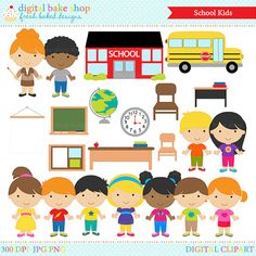 Back to school classroom. Bar clipart student