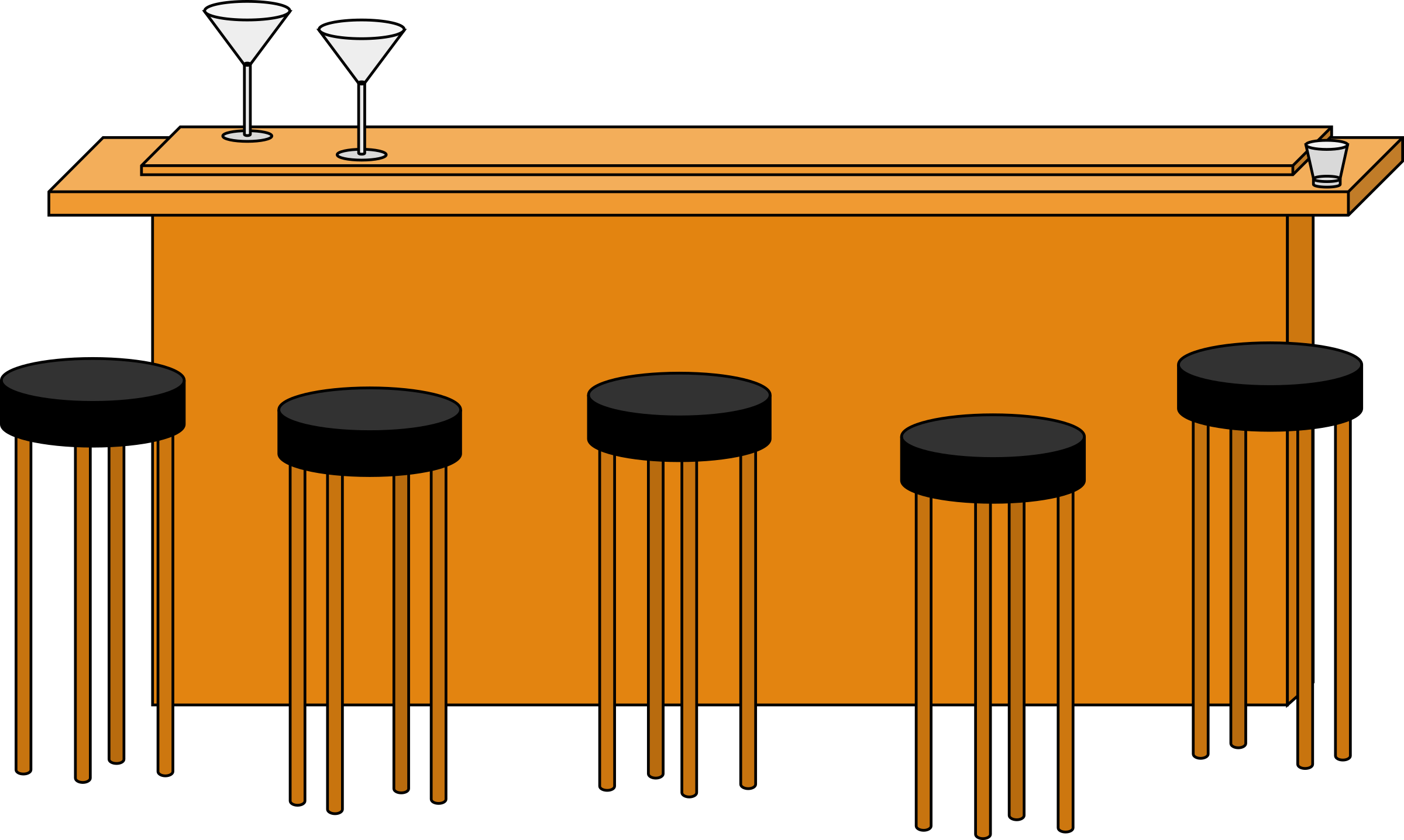 Bar clipart transparent. With stools icons png