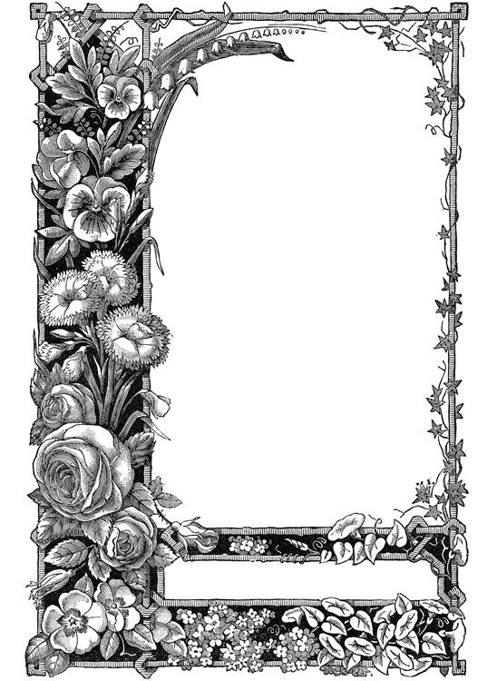 Bar clipart victorian. Art frame pencil and