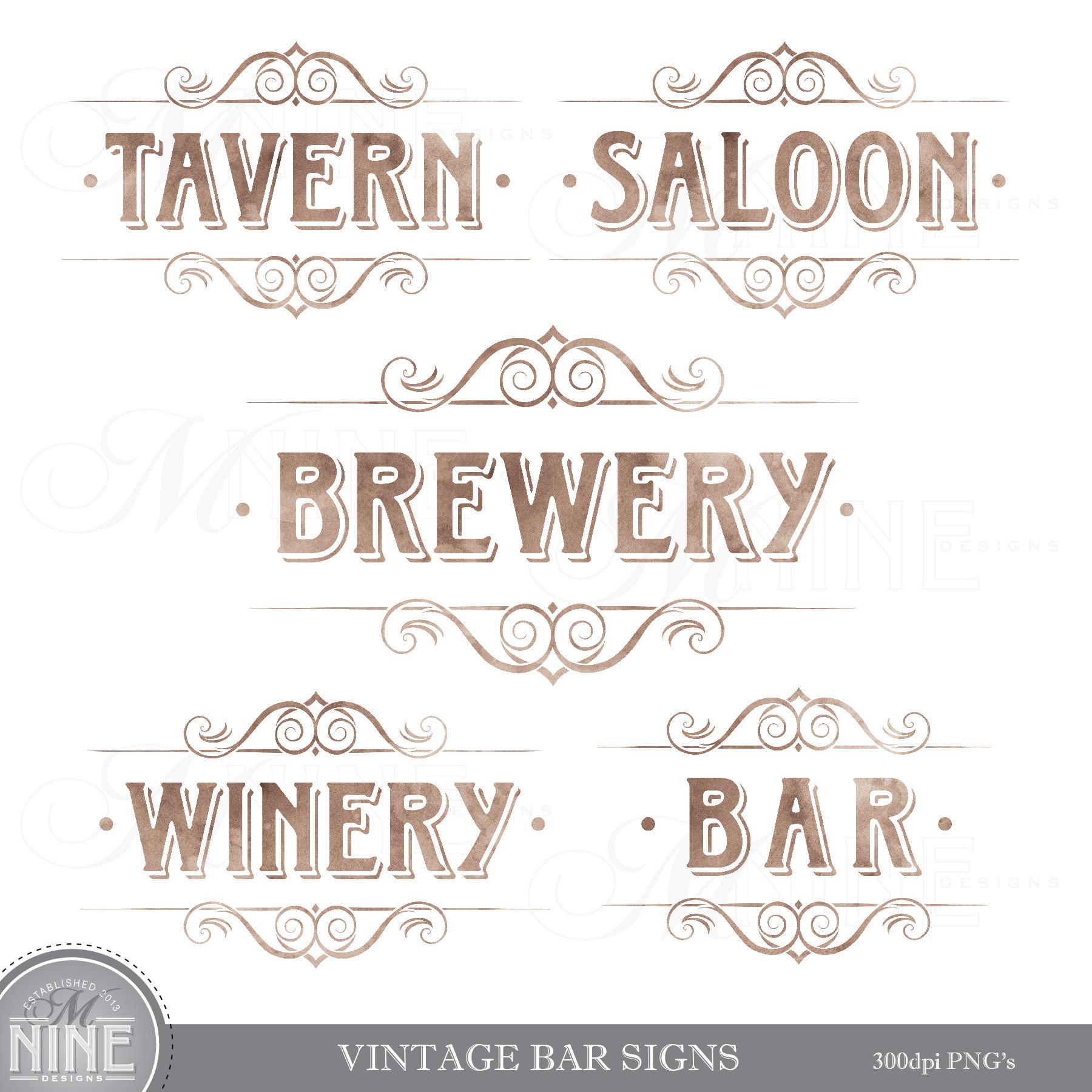 Bar clipart vintage. Signs clip art wine