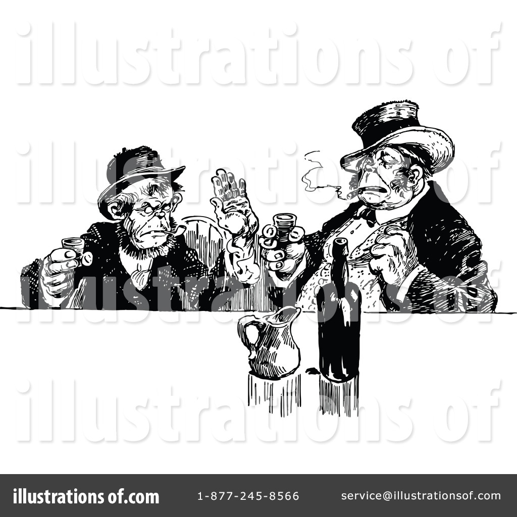 Illustration by prawny royaltyfree. Bar clipart vintage