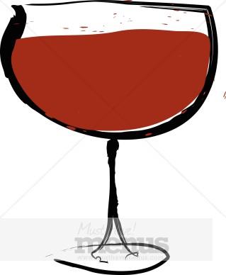 Bar clipart wine bar. Red glass
