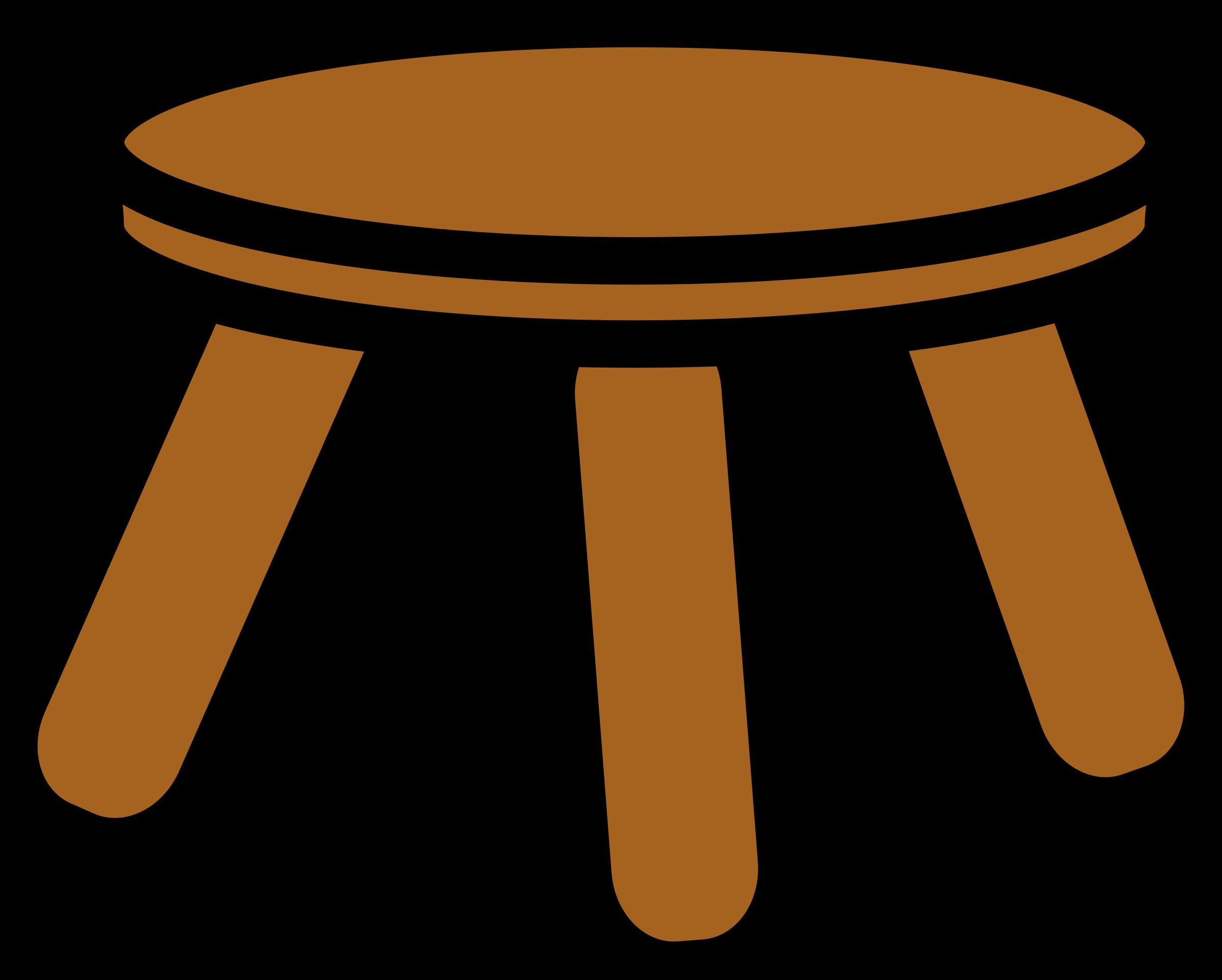 Stool big image png. Furniture clipart wooden furniture