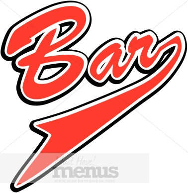 Signage beverage . Bar clipart word
