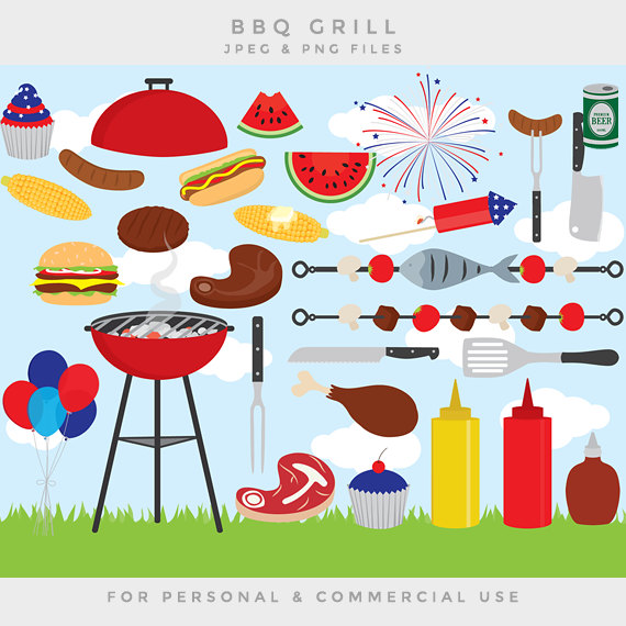 Barbeque bbq clip art. Barbecue clipart 4th july