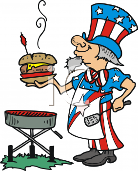 Grilling clipart memorial day. Fourth of july clip