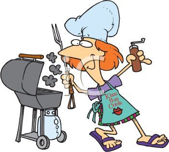 Grilling out pictures summer. Barbecue clipart animated