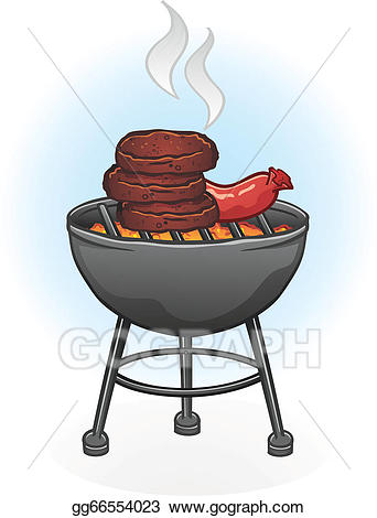 Barbecue clipart animated. Vector stock grill cartoon