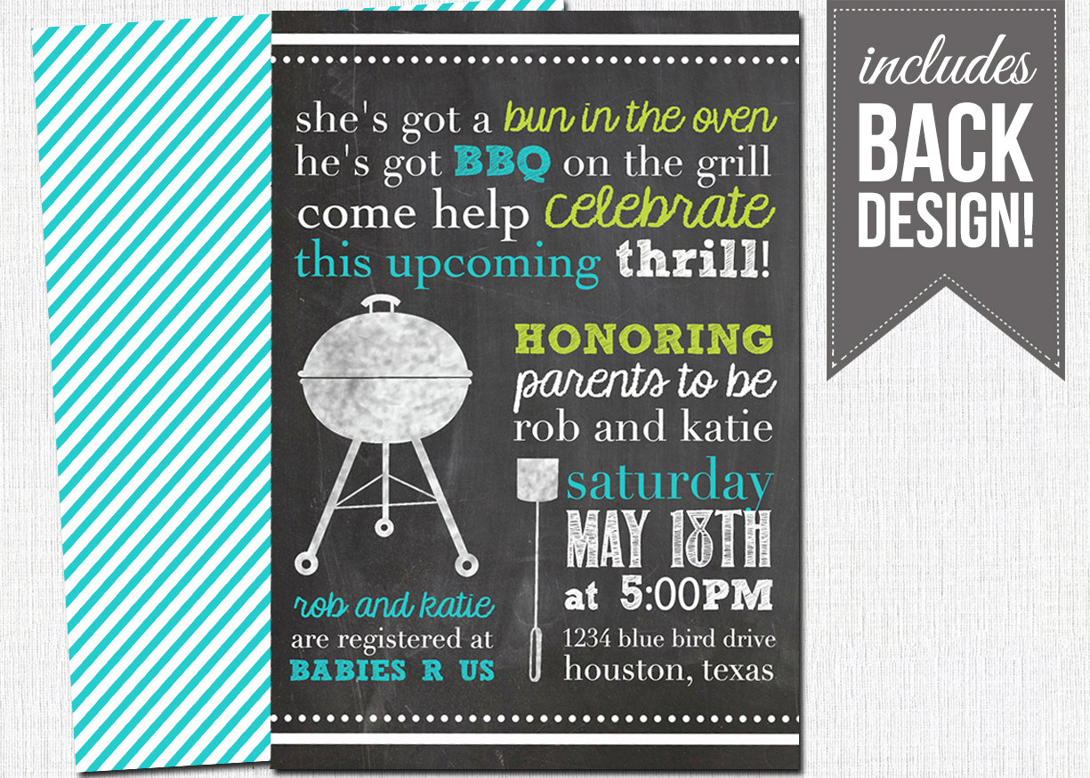 Barbecue invitation wording oxyline. Bbq clipart baby shower