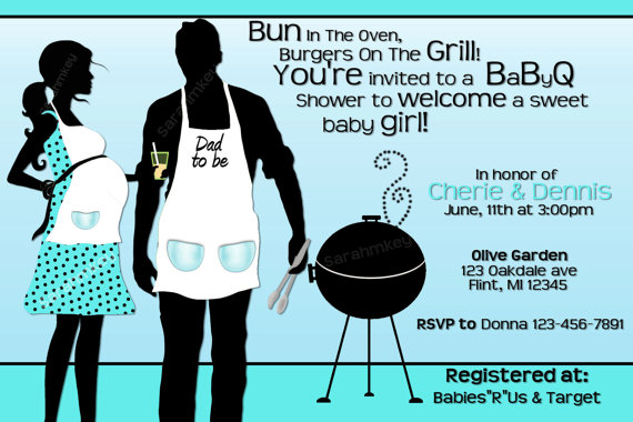 Bbq clipart baby shower. Invitations reignnj com is