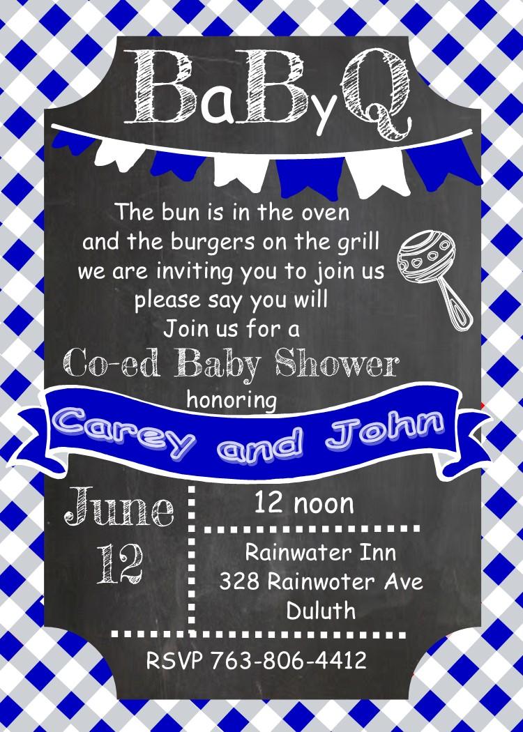 Bbq clipart baby shower. Babyq invitations summer