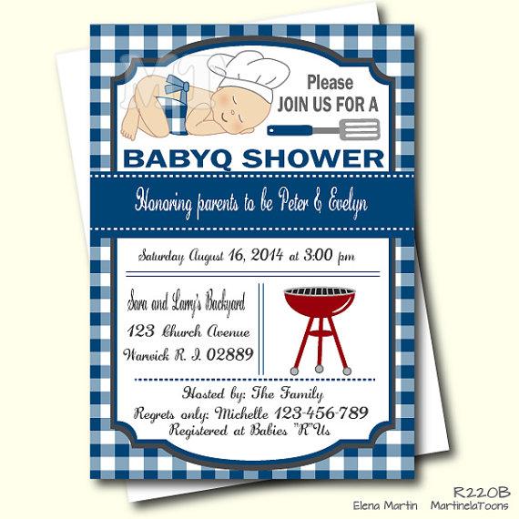 Bbq clipart baby shower. Blue barbeque invitation invite