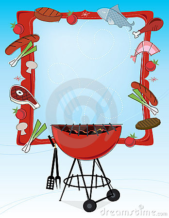 Barbecue clipart banner. Family bbq retro panda