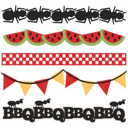 Free bbq border cliparts. Barbecue clipart banner