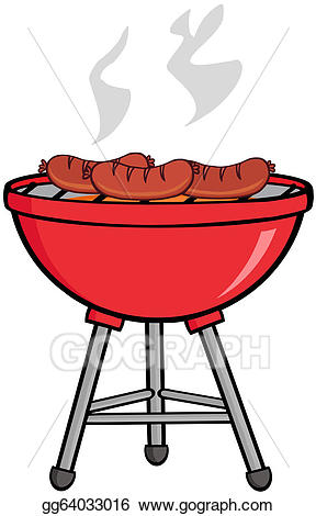 Vector stock grilled sausages. Barbecue clipart barbecue meat