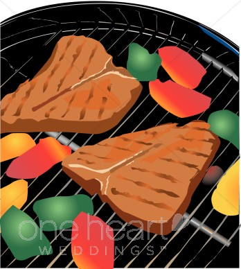 Steak grill wedding picnic. Barbecue clipart barbecue meat