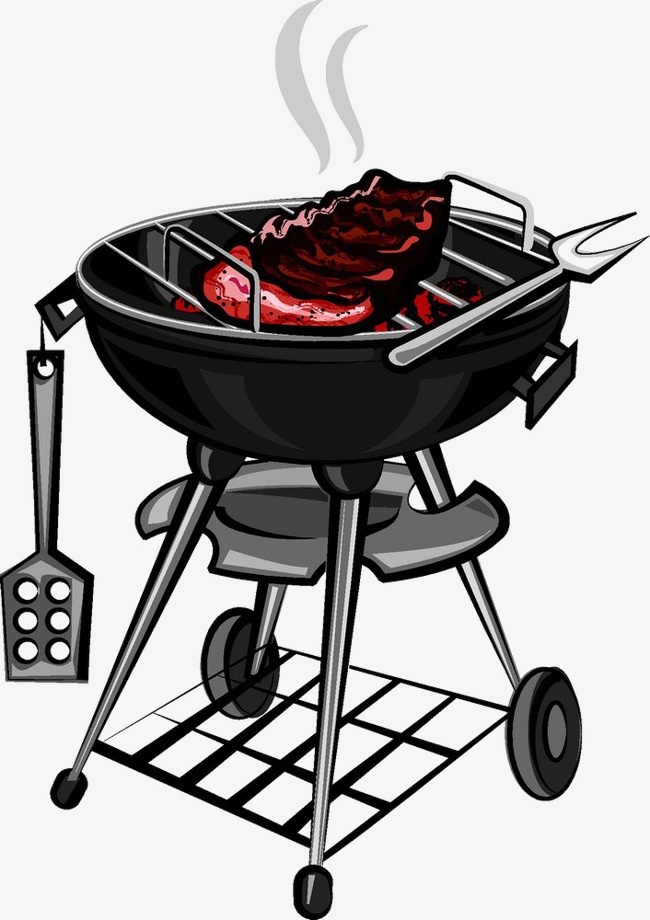 On the grill fork. Barbecue clipart barbecue meat