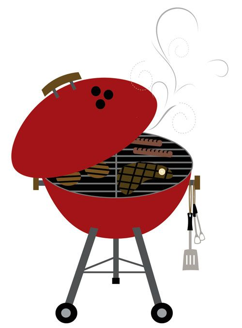 Grill by lulucreates hot. Bbq clipart illustration