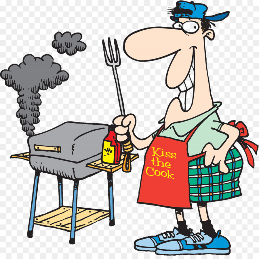 Cartoon barbecue communication table. Grilling clipart bbq texas