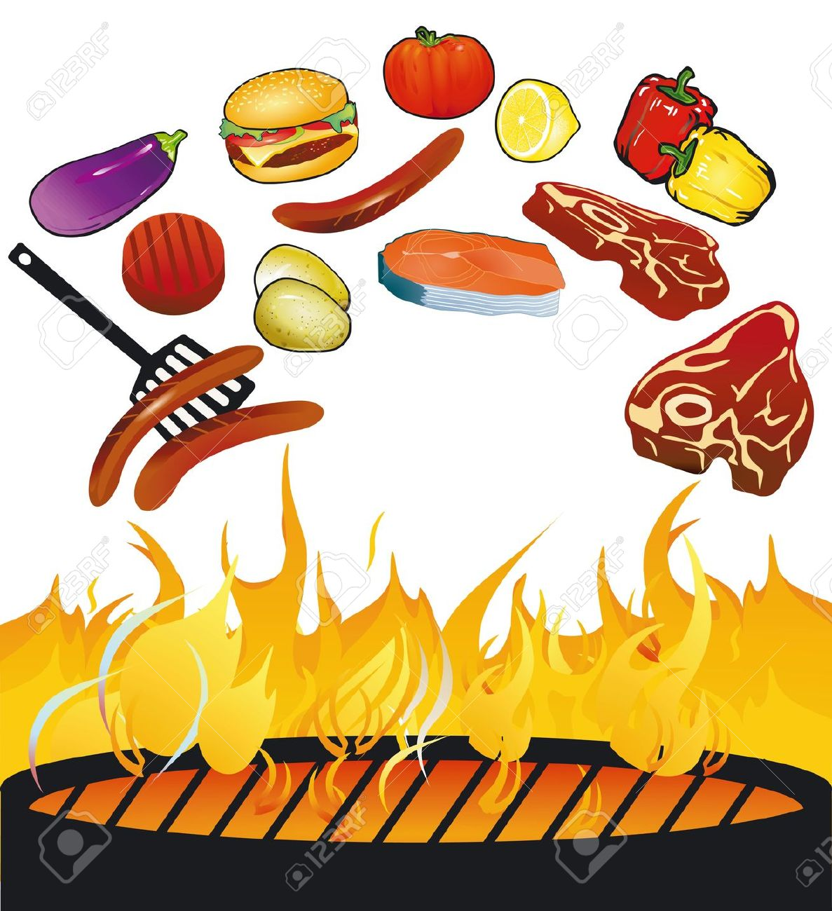 Grill . Barbecue clipart bbq food