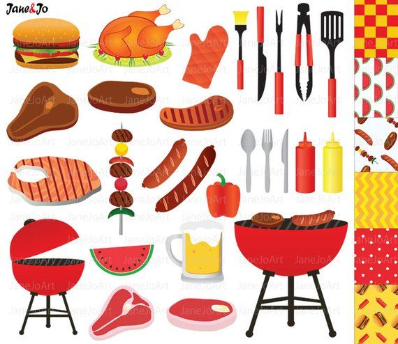 Barbecue clipart bbq food. Barbeque summer grill party