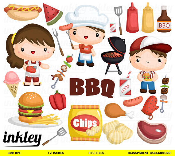 Barbeque clip art png. Chips clipart chicken