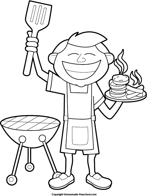 collection of bbq. Barbecue clipart black and white