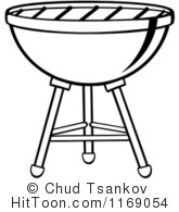 Bbq royalty free stock. Barbecue clipart black and white