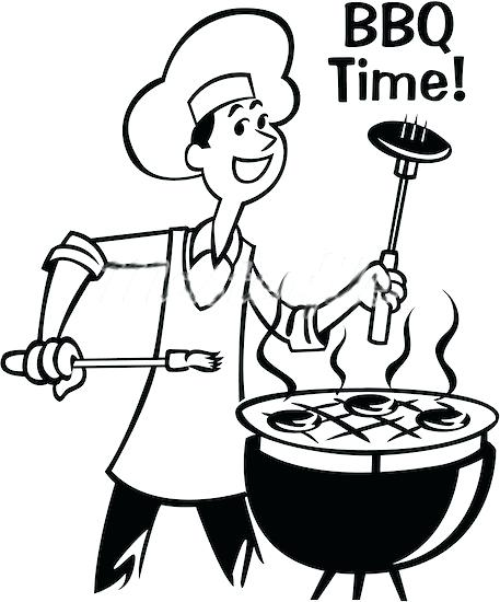 Barbecue clipart black and white. Drawing at getdrawings com