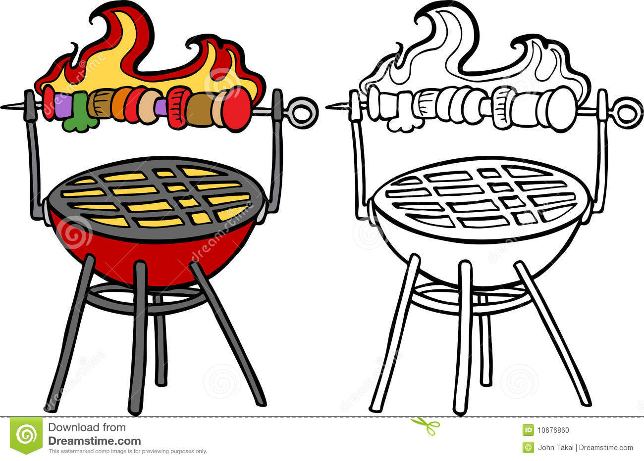 Barbecue clipart black and white. Bbq panda free images