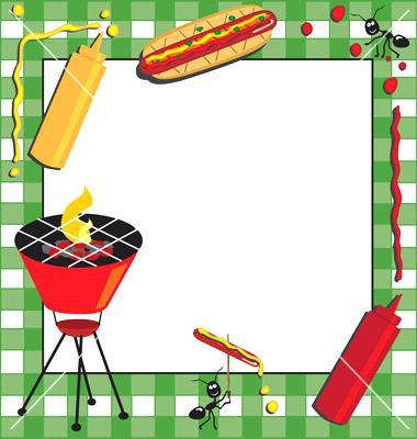 Barbecue clipart block party. Bbq invitation template clip