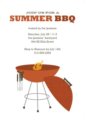 Printable summer backyard bbq. Barbecue clipart block party