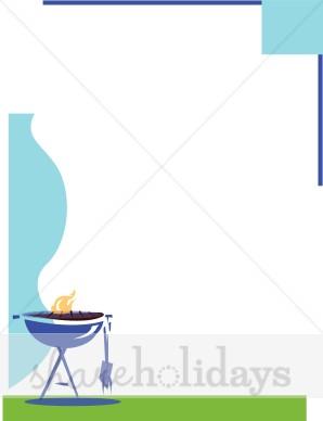 Barbecue clipart border. Bbq grill father s