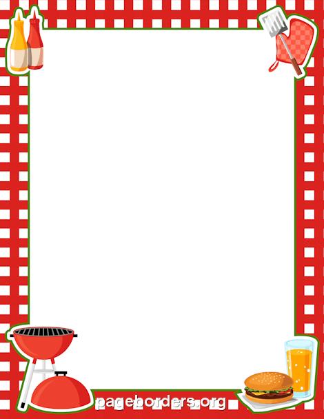 Barbecue clipart border. Bbq clip art page