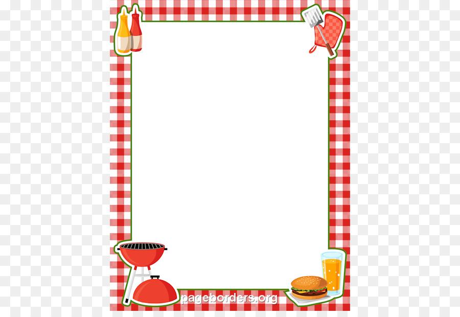 Barbecue clipart border. Hot dog picnic clip