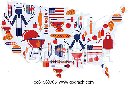 Barbecue clipart celebration. Vector stock th of