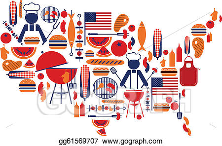 Vector stock th of. Barbecue clipart celebration
