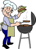 Barbecue clipart celebration. Free bbq page for