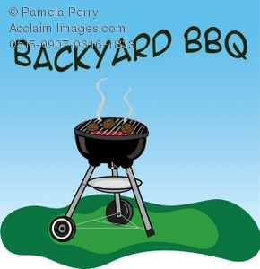 Bbq clipart charcoal grill. Clip art illustration of