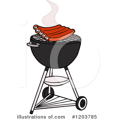 Barbecue clipart charcoal grill. Bbq illustration by lafftoon
