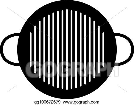 Barbecue clipart charcoal grill. Vector art bbq pan