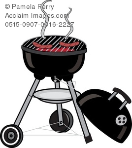 Clip art illustration of. Barbecue clipart charcoal grill