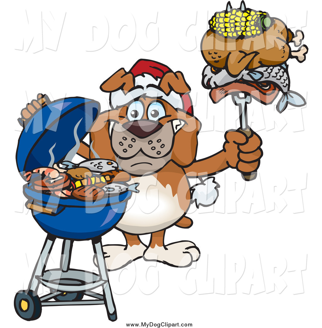 Clip art of a. Barbecue clipart christmas