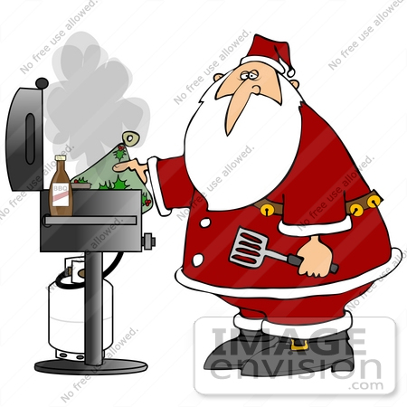 Grilling clipart christmas. Free cliparts download clip