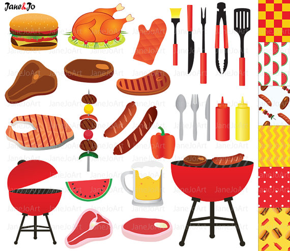 Barbecue clipart clip art. Bbq barbeque summer grill
